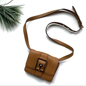 Rebecca Minkoff Flap Crossbody Bag Chestnut Brown